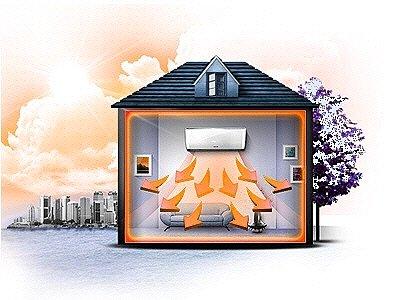 Отопление дома системой кондиционирования - это выгодно!